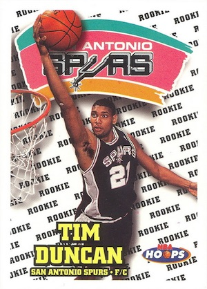 Tim Duncan Rookie Card Gallery and Checklist 12
