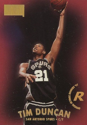 Tim Duncan Rookie Card Gallery and Checklist 15