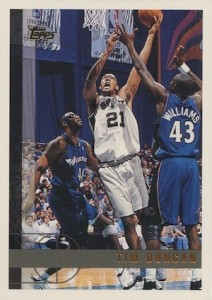 Tim Duncan Visual Rookie Card Guide and Checklist 19