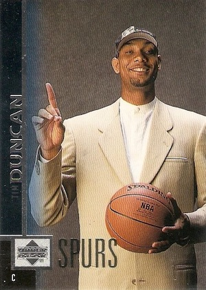 Tim Duncan Rookie Card Gallery and Checklist 22