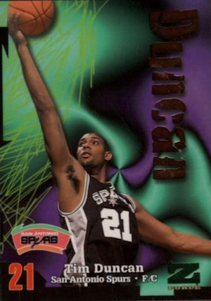 Tim Duncan Rookie Card Gallery and Checklist 23