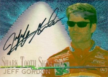 1997 Wheels Race Sharks Shark Tooth Signature Jeff Gordon