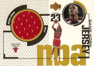 1998-99 Upper Deck Game Jerseys Michael Jordan #GJ20