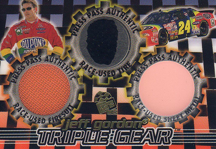 1998 Press Pass Triple Gear STG6 Jeff Gordon 33