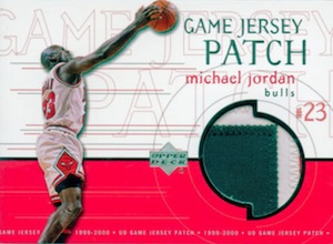 1999-00 Upper Deck Game Jerseys Patch Michael Jordan