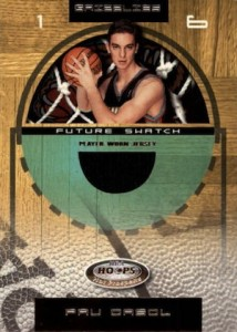 2001-02 Hoops Hot Prospects Pau Gasol RC #83 Jersey
