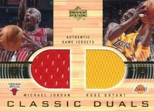2001-02 Upper Deck Classic Dual Jerseys Michael Jordan, Kobe Bryant