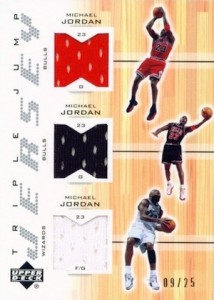2001-02 Upper Deck Triple Jump Jerseys Michael Jordan #MJMJMJ