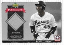 2001 Upper Deck MJ Salute Game-Used #MJ jersey
