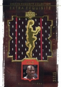 2003-04 Exquisite Collection Extra Exquisite Duals Michael Jordan #EE-MJ1