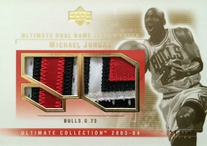 2003-04 Ultimate Collection Patches Dual Michael Jordan #MJ-2P