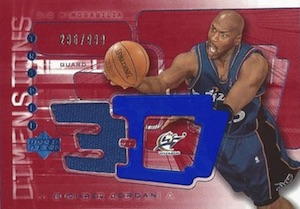 2003-04 Upper Deck Triple Demensions 3-D Warmups Michael Jordan #3DW36