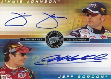 2003 Press Pass Eclipse Teammates Autographs Jeff Gordon Jimmie Johnson