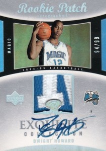 2004-05 Exquisite Collection Dwight Howard RC Autographed Jersey