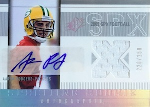 2005 SPx Aaron Rodgers RC #223 Autographed Jersey