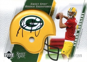 2005 UD Sweet Spot Aaron Rodgers RC #284 Autograph