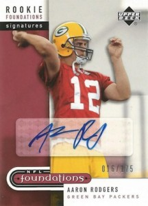 2005 Upper Deck Foundations Aaron Rodgers RC #260 Autograph