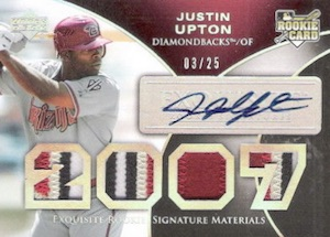 2006 Exquisite Collection Justin Upton RC #162