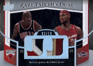 2007-08 Upper Deck Premier Rare Patches Dual Michael Jordan, LeBron James