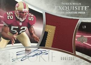 2007 Exquisite Patrick Willis RC #124 Autographed Patch