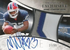2007 Upper Deck Exquisite Collection Marshawn Lynch RC #131 Autographed Patch