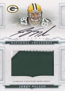 2008 National Treasures Jordy Nelson RC #120 Autgraphed Patch