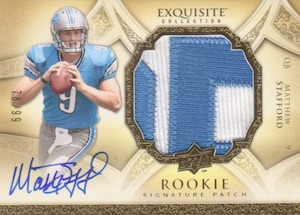 2009 Exquisite Collection Matthew Stafford RC #183