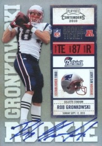 2010 Contenders Rob Gronkowski RC #229 Autograph white jersey