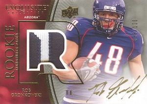 2010 Exquisite Collection Rob Gronkowski #131 Autographed Patch