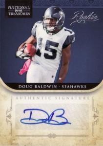 2011 National Treasures Doug Baldwin RC #236 Autograph