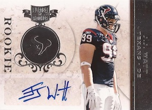2011 Panini Plates and Patches J.J. Watt RC #134 Silver Parallel Autograph