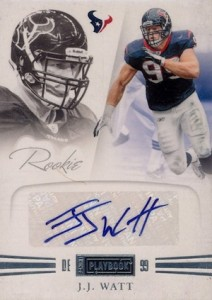 2011 Panini Playbook J.J. Watt RC #68 Autograph