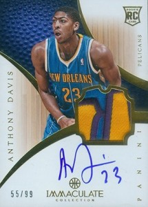 2012-13 Panini Immaculate Anthony Davis RC
