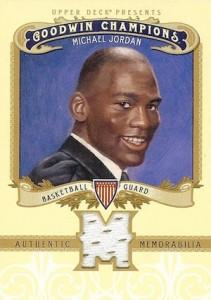 2012 UD Goodwin Champions Memorabilia Michael Jordan #M-MJ