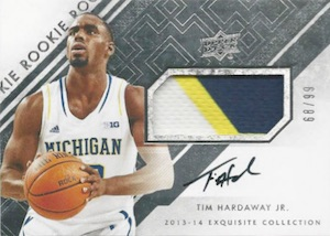 2013-14 Exquisite Collection Tim Hardaway Jr #78
