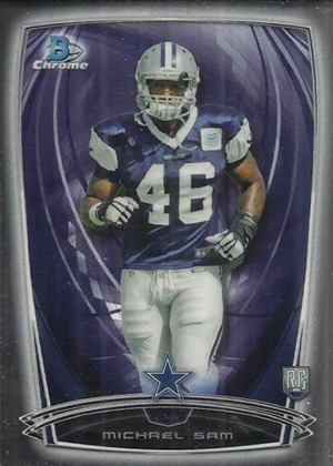 2014 Bowman Chrome Football Variation Short Prints 58