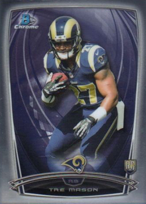 2014 Bowman Chrome Football Variation Short Prints 64