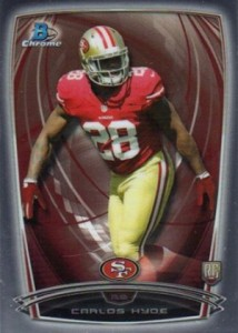 2014 Bowman Chrome Football Variation Short Prints 62