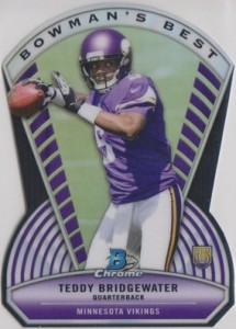 2014 Bowman Chrome Football Boman's Best Die-Cut Bridgewater