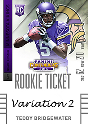 2014 Panini Contenders Football Rookie Ticket Autograph Variations Guide 97