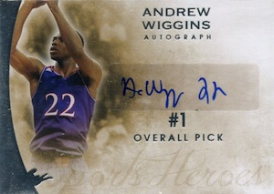 2014 Leaf Q Andrew Wiggins #A-AW1 Autograph
