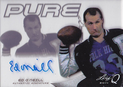 Woah, Bundy! Al Bundy Immortalized with Autograph Card in 2014 Leaf Q 1