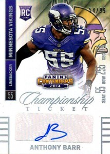 2014 Panini Contenders Football Rookie Ticket Autograph Variations Guide 119