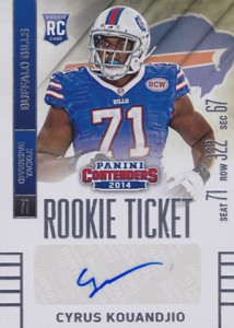 2014 Panini Contenders Football Rookie Ticket Autograph Variations Guide 130