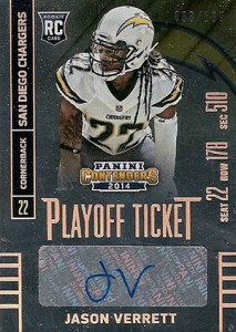 2014 Panini Contenders Football Rookie Ticket Autograph Variations Guide 146