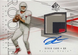 Derek Carr Rookie Card Gallery and Checklist 47
