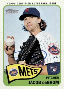 2014 Topps Heritage High Number Real One Autographs Jacob deGrom