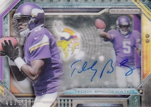 2014 Topps Strata Football Signatures Teddy Bridgewater