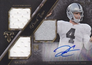 Derek Carr Rookie Card Gallery and Checklist 35