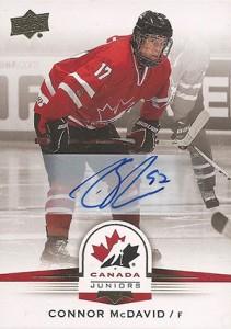 2014 Upper Deck Team Canada Juniors Autograph Connor McDavid
